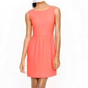 J.Crew Factory Sleeveless Ruched Orange Dress